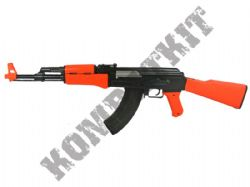 P1093 BB Gun AK47 Style Spring Airsoft Rifle 2 Tone Orange Black